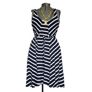 LAmade Navy Striped Summer Dress